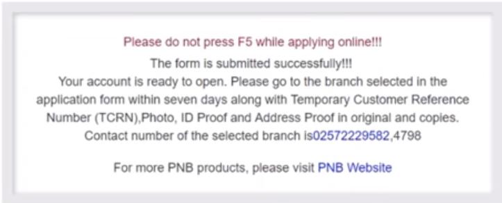 PNB Saving Account
