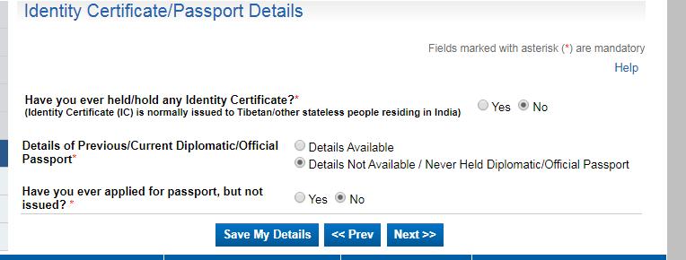 Passport Online Registration