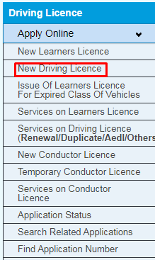 Driving License Online Registration