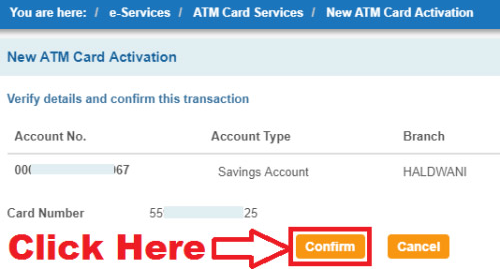 ATM card Activate