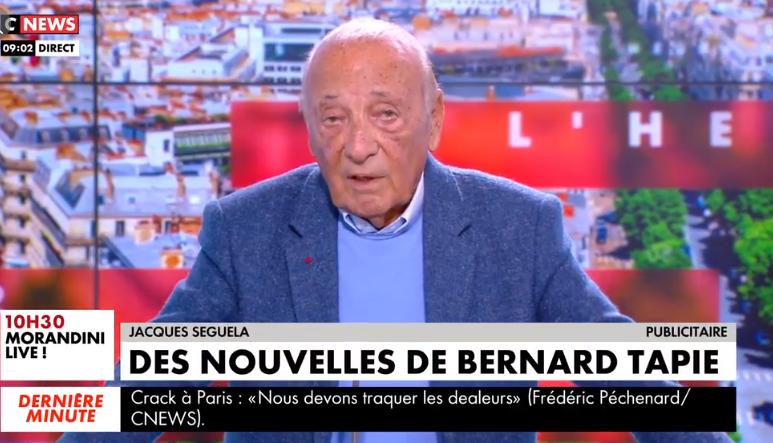 Jacques Séguéla, publicist and friend of Bernard Tapie.